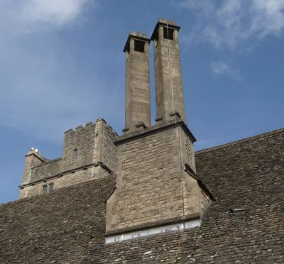 Chimney And Tower of  Foxcombe Hall Boars Hill, Open University