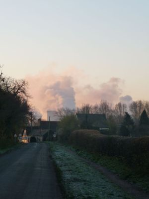 Didcot Power Station at Full Steam viewed from Culham Nov 2010