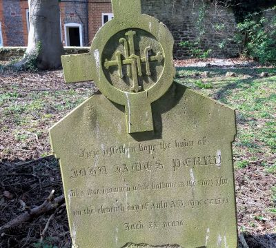 John James Perry Drowned in the Isis (Thames) 1852  aged 22, St Helens Church Abingdon