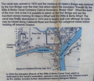 Map Of Abingdon Canal Lock (Berks & Wilts Canal)
