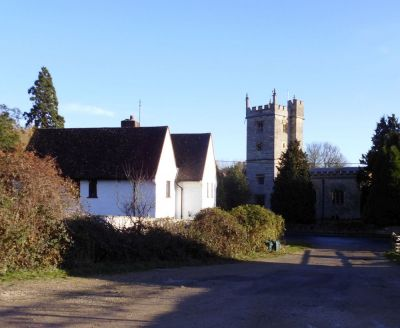 Sunningwell Church viewed from the Village Hall